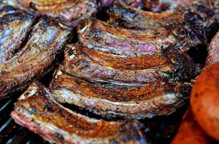 cucina, carne su pietra ollare