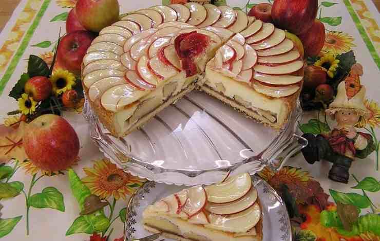 torta mele senza forno