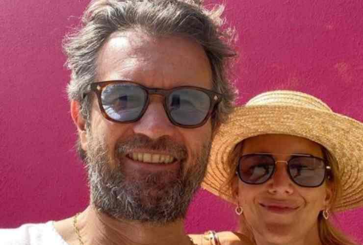 Carlo Cracco e la moglie