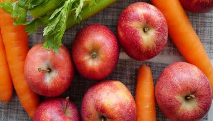 mele carote bicarbonato